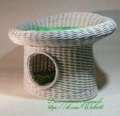 Плетеный котодом Домик для кошки Котодом Лежанка для кота   Домик-лежанка Купить в Доме плетёных подарков https://vk.com/Wickartt