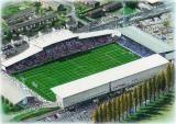Racecourse Ground in Art, home of Wrexham F.C. Great gifts @ sportsstadiaart.co.uk.....