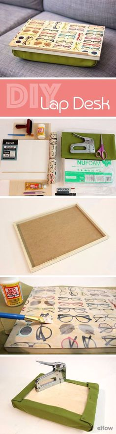 DIY School Supplies - Make a Pillow Lap Desk - Easy Crafts and Do It Yourself Ideas for Back To School - Pencils, Notebooks, Backpacks and Fun Gear for Going Back To Class - Creative DIY Projects for Cheap School Supplies - Cute Crafts for Teens and Kids http://diyprojectsforteens.com/diy-back-to-school-supplies