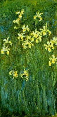 """""""Iris jaunes""""  Claude MONET 1914-17"""