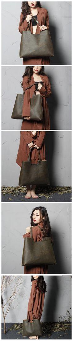 Handmade Genuine Leather Tote Bag, Women Shopper Bag, Shoulder Bags ,Women's Fashion, Leather Goods For Women