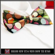 BRAND NEW MULTI-COLOR CHECKED RARE TUXEDO MEN/'S BOW TIE B641