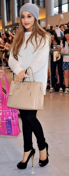 Ariana Grande Leather Tote
