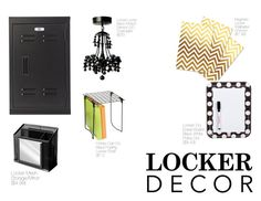 """Decorate Your Locker -- Contest"" by nfashx ❤ liked on Polyvore featuring interior, interiors, interior design, home, home decor, interior decorating, Home Decorators Collection, Honey-Can-Do, BackToSchool and contest"
