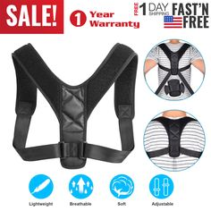 c6a14bb75 Posture Corrector Adjustable Upper Back Brace Support Shoulder Correction  Belt