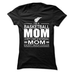 Im a basketball mom, just like a normal mom, except muc - #pullover hoodie #red hoodie. GET YOURS => https://www.sunfrog.com/Names/Im-a-basketball-mom-just-like-a-normal-mom-except-much-cooler--Ladies.html?68278