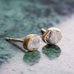 Rough Diamond Stud Earrings. Discover thoughtful, personal and wonderfully unique jewellery gifts for her this Christmas