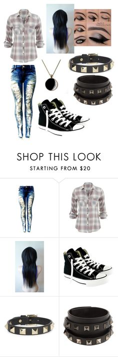 """Untitled #75"" by sammnicole01 ❤ liked on Polyvore featuring Converse and Valentino"