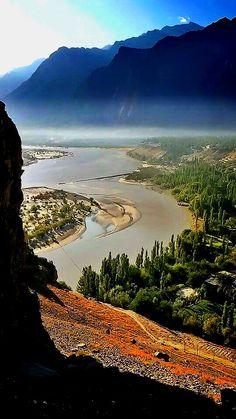 Indus river and skardu city from kharpocho fort Gilgit Baktistan credit: Muhummad Ahsan