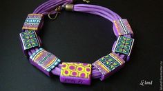 Doublesided Polymer clay Necklacehollow by Lelandjewelry on Etsy, $67.00