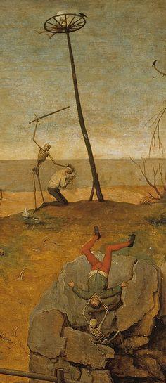 Pieter Bruegel the Elder, Detail of The Triumph of Death, ca. Renaissance Paintings, Renaissance Art, Pieter Bruegel The Elder, Dance Of Death, Hieronymus Bosch, Danse Macabre, Classic Paintings, Creepy Art, Art Graphique