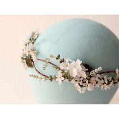 Flower crown, Woodland wedding accessory, Bridal hair crown, Bridal... ($75) ❤ liked on Polyvore