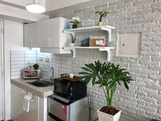 Nordic Jewel for Family 5 Pax + Free Netflix - Condominiums for Rent in Tagaytay, Calabarzon, Philippines Small Apartment Interior, Small House Interior Design, Condo Design, Small Apartment Decorating, House Design, Interior Designing, Studio Apartment, Studio Type Condo Ideas Small Spaces, Tiny Spaces