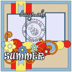 Okieladybug's Scrap N' More: Days of Summer - Layout