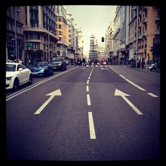 I love this street of Madrid, Gran Via.