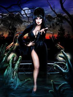 Elvira: Mistress of the Dark 🕸🖤💀🖤🕸 Cassandra Peterson, Halloween Artwork, Halloween Pictures, Halloween 1, Elvira Movies, Beautiful Witch, Horror Artwork, Dark Pictures, Horror Icons