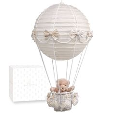PASITO A PASITO HOT-AIR BALLOON LAMPSHADE WITH TEDDY BEAR