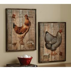 Rustic Rooster And Hen French Country Wall Decor Set French Country Wall Decor, Country Farmhouse Decor, Rustic Wall Decor, Rustic Walls, French Country Decorating, Country French, Country Décor, Rustic French, Country Houses