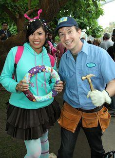 vanellope von schweetz and fixit felix jr from wreckit ralph disney costumes
