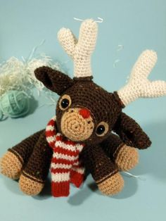 Murray the Reindeer a Free crochet pattern download to make for Christmas crochet