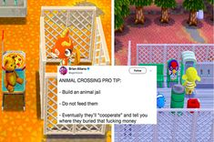 "People Are Making Prisons On ""Animal Crossing: Pocket Camp"" This is terrible"
