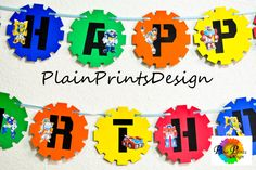 Transformer Rescue Bots Birthday Banner Inspired!!! by PlainPrintsDesign on Etsy