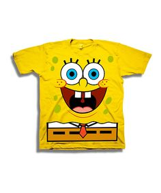 Look at this Yellow SpongeBob Face Tee - Toddler & Boys on #zulily today!