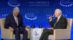 Bill Clinton hosted the final day of his Foundation's Clinton Global Initiative event in Atlanta, Georgia. He was joined by former President Carter and they touched upon everything from why former President Carter chose the path he did after his presidency to issues like Citizens United.