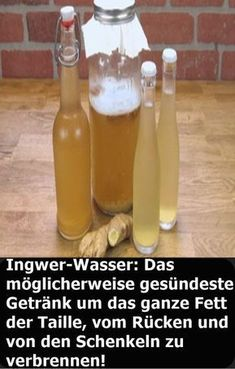 Ginger Water: Perhaps the healthiest drink around all the fat of the day . - Ingwer-Wasser: Das möglicherweise gesündeste Getränk um das ganze Fett der Ta… Ginger Water: The possibly healthiest drink to burn all the fat of the waist, back and thighs! Lemon Benefits, Coconut Health Benefits, Healthy Oils, Healthy Drinks, Nutrition Drinks, Detox Drinks, Healthy Food, Healthy Recipes, Fitness Workouts