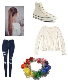 """""""❤️💛💚💙💜"""" by carissacapuzzi on Polyvore featuring Converse, Topshop and Hollister Co."""