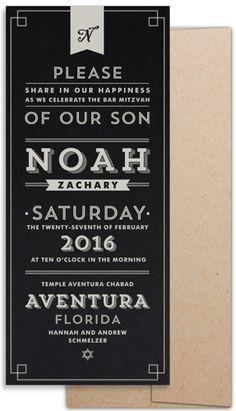 Design Invitations, Vintage, Wedding, Bar Mitzvah, Mitzvah Invitations, Bat Mitzvah, Typography