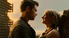 The Divergent Series: Allegiant – Movie Clip Heights Divergent Tris, Tris And Tobias, Four From Divergent, Theo James, Tris E Quatro, Tris Und Four, Allegiant Movie, Kiss Books, Shailene Woodley