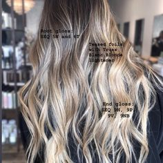 Image may contain: one or more people Sandy Hair Color, Hair Color Swatches, Redken Hair Color, Perfect Blonde Hair, Redken Hair Products, Hair Color Formulas, Blonde Hair Makeup, Teased Hair, Hair Toner