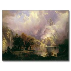 Shop Albert Bierstadt - Rocky Mountain Landscape Poster created by niceartpaintings. Personalize it with photos & text or purchase as is! Landscape Artwork, Landscape Prints, Landscape Posters, Landscape Design, Rocky Mountains, Albert Bierstadt Paintings, Landscape Arquitecture, Google Art Project, Hudson River School