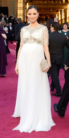 The Best Maternity Looks Ever On The Oscars Red Carpet - Georgina Chapman, 2013 from InStyle.com