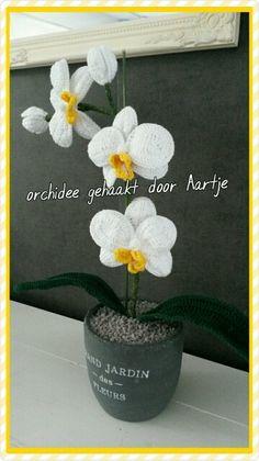 Orchidee gehaakt .patroon Mary J. Handmade
