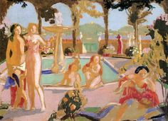 The Athenaeum - The Gardens of Armida (study) (Maurice Denis - )