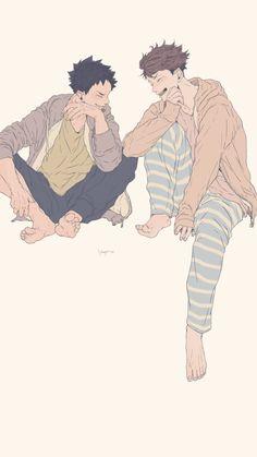 Oikawa Tooru x Iwaizumi Hajime / Haikyuu! Kagehina, Oikawa X Iwaizumi, Iwaoi, Kuroo, Haikyuu Ships, Haikyuu Fanart, Haikyuu Anime, Manga Anime, Manhwa
