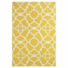 Stylishly anchor your living room or master suite with this delightful hand-hooked wool rug, showcasing an alluring quatrefoil trellis motif in yellow.  Product: RugConstruction Material: WoolColor: YellowFeatures: Hand-hookedNote: Please be aware that actual colors may vary from those shown on your screen. Accent rugs may also not show the entire pattern that the corresponding area rugs have.