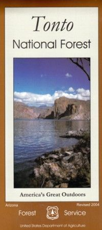 Tonto National Forest Folded Map | Arizona Experience Store
