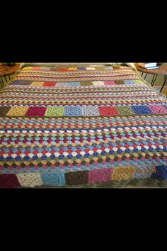 Cool crocheted afghan