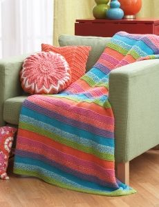 Color Lovers Afghan | Yarn | Free Knitting Patterns | Crochet Patterns | Yarnspirations