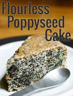 Flourless Poppy Seed Cake Recipe: A gluten-free and amazingly moist cake with a great crunchy texture from the poppyseeds. Patisserie Sans Gluten, Dessert Sans Gluten, Gluten Free Desserts, Cake Recipes, Dessert Recipes, Poppy Seed Cake, Moist Cakes, Gluten Free Baking, Chocolate Recipes