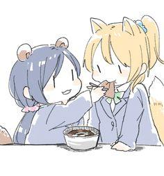 Eli and Nozomi Feeding [Love Live!] Nicocchi