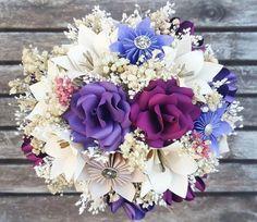 Flores en tonos morados y beige