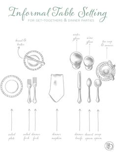 Guide to setting your table for informal occasions-Informal Table Setting