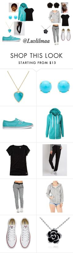 """""""The BFF go to Outfits"""" by luvlilmaa on Polyvore featuring Kerastase, Jennifer Meyer Jewelry, Irene Neuwirth, Vans, Hollister Co., Charlotte Russe, Converse and Erica Lyons"""