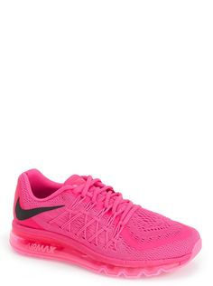 These vibrant pink Nike running shoes are totally eye-catching.