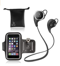 Headphones sport kit with CVC Noise reduction 6.0 technology , intelligently filter ambient noise and sweatproof Earbuds to give you an amazing sound experience during your workouts . It can be paired with any 2 different Bluetooth devices simultaneously including iPhone 6 , 6s , 7, 7s , iPad, iPod , Samsung Galaxy S6 and any device with Bluetooth connection. #bluetooth headset # wireless earphones # running headphones #sport #earbuds #fitness
