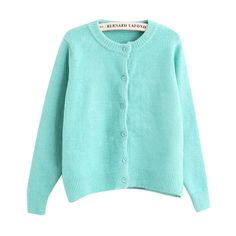 Chicnova Fashion Pure Color Wool Blend Long Sleeves Sweater (315 ARS) ❤ liked on Polyvore featuring tops, sweaters, chicnova, jackets, blue top, long sleeve sweaters, blue sweater, wool blend sweaters and blue long sleeve top